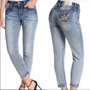 NWT Miss Me Ankle Skinny Jeans 27